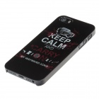 Keep Calm And Carry On Stylish Colored Drawing Phone Case Cover for IPHONE 5 / 5S - Black + White