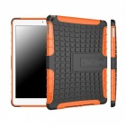 2-in-1 Protective TPU + PC Back Case w/ Stand for IPAD AIR - Black + Orange