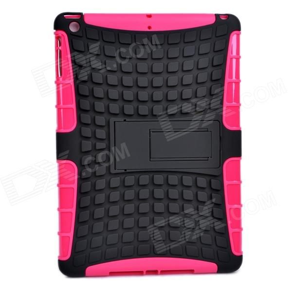2-in-1 Protective TPU + PC Back Case w/ Stand for IPAD AIR - Black + Deep Pink universal 2 in 1 0 65x wide angle macro lens glass filter for cellphone tablet pc black