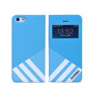 Remax Stylish Protective PU Leather Case w/ Display Window for IPHONE 5 / 5S
