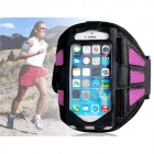 Protective Mesh Sports Armband for IPHONE 5 / 5S - Deep Pink + Black
