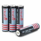 UltraFire 18650 3.7V 2160mAh Rechargeable Li-ion 18650 Batteries - White + Black (4 PCS)