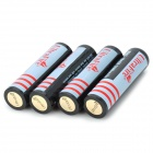 UltraFire 2160mAh Rechargeable 18650 Batteries - White + Black (4PCS)
