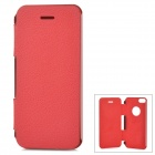QUICKMAN 2N1-1 Flip-Open Aluminum Alloy + PU Leather Case for IPHONE 5 / 5S - Red