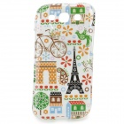 Eiffel Tower + Bicycle Pattern Protective TPU Case for Samsung Galaxy S3 i9300