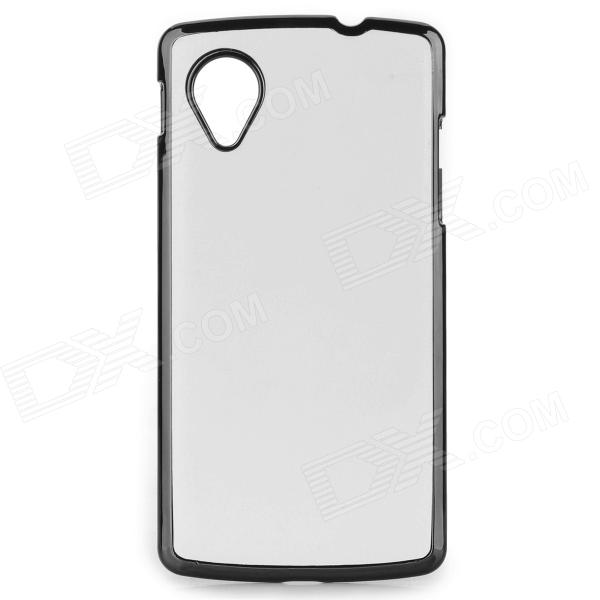 Protective PU + ABS Back Case for LG Nexus 5 - White protective silicone back case for lg nexus 5 translucent white