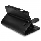 Protective PU Leather + ABS Case w/ Stylus Pen for Samsung Galaxy S3 i9300 - Black
