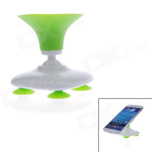 Fashion Universal Creative Suckering Car Swivel Holder for GPS / Cell Phone / MP4 - White + Green