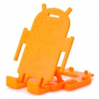 Android Robot Style Desktop Plastic Holder for Cell Phone - Orange