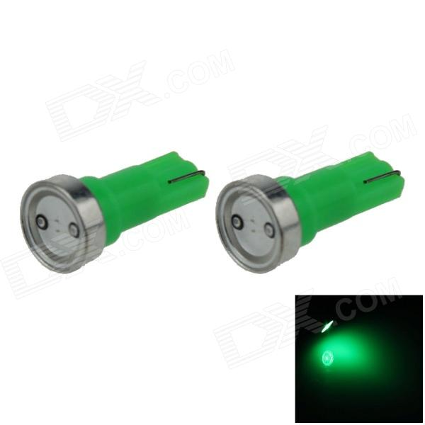 T5 1W 80lm 1 x COB LED Green Light Car Instrument Lamp / Indicator lamp - (DC 12V / 2 PCS)