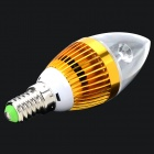 JRLED Dimmable E14 3W 230lm 3300K 3-LED Warm White Light Candle Spotlight - White + Golden (220V)