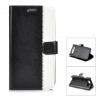 Flower Show Protective PU Case w/ Card Slots / Stand for Samsung Galaxy S3 / i9300 - Black