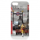 Vintage-Mode London Style TPU Tasche für iPhone 5/5 s - rot + Bunt