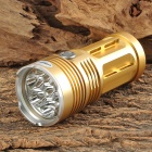LetterFire 7 x Cree XM-L T6 2200lm 3-Mode White Flashlight - Golden (4 x 18650)