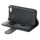 Protective PU Case w/ Card Slots / Stylus Pen for IPHONE 5/5S - Black