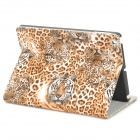 Leopard Style Protective PU Leather Case for IPAD AIR - Yellow
