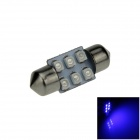 Festoon 31mm 0.6W 50lm 6 x SMD 1210 LED Blue Light Car Reading / Roof / Dome Lamp - (12V / 2 PCS)
