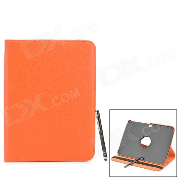 Protective PU Leather Case w/ Stylus Pen for Samsung Galaxy Tab 3 10.1 P5200 / P5210 - Orange protective pu leather case w stylus pen for samsung tab 3 7 0 t210 t211 p3200 p3210 orange