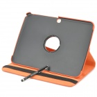 Protective PU Leather Case w/ Stylus Pen for Samsung Galaxy Tab 3 10.1 P5200 / P5210 - Orange