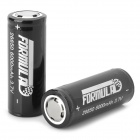 FORMULAD 26650 Rechargeable 3000mAh 3.7V 26650 Li-ion Battery - Black + Silver