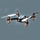 JJRC F180 2.4G 6-Channel Remote Control LCD Multi-mode UFO Four Axis Aircraft - Black + Blue