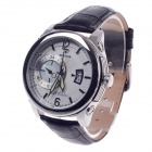 SPEATAK SP9029G Vouge Men's Head Layer Cowhide Band Quartz Wrist Watch w/ Date Display