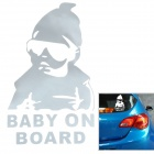 Baby on Board Reflective Car Sticker - Silver