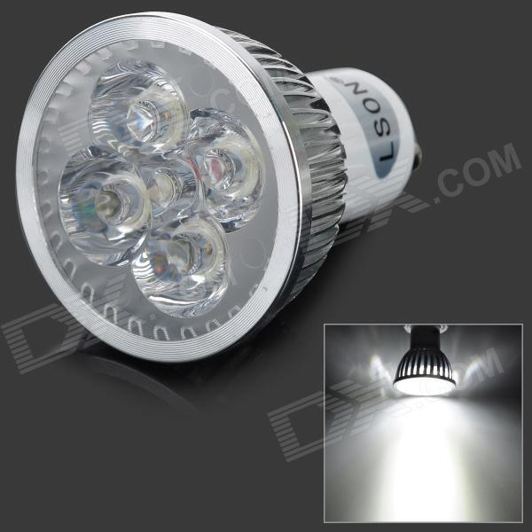 LSON GU10 4W 230lm 6000K 4-LED White Light Spotlight (AC 85~265V) gu10 4w 350lm 6100k 4 cree xpe led white light spotlight silver ac 85 265v
