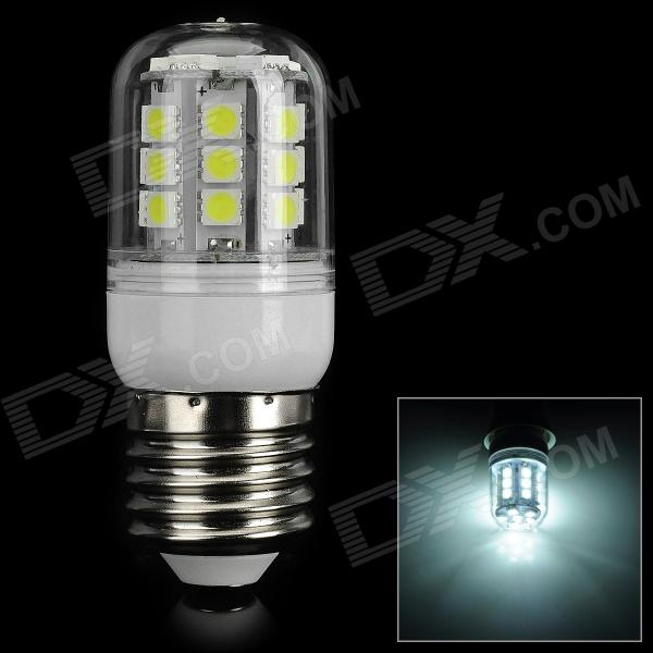 FengYang E27 5W 150lm 6500K 27-SMD 5050 LED White Light Bulb (AC 220V)
