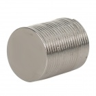 15mm Round NdFeB Magnets - Silver (20 PCS)