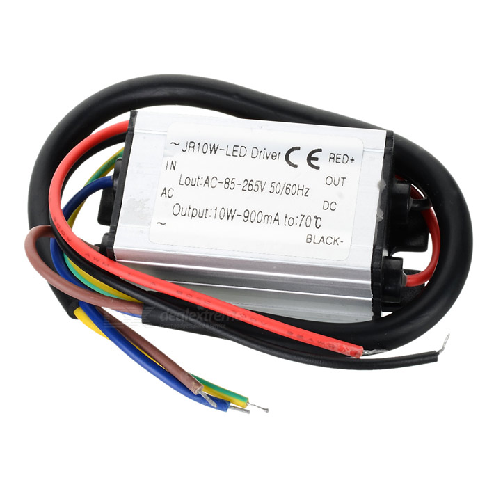 10W impermeable LED Driver w / cable de cobre Wire - Plata (90 ~ 264V)