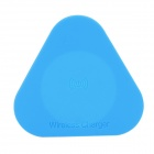 Z100 Mini Triangular QI Wireless Charger for QI Mobile Phone - White + Blue