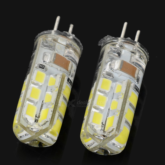 JRLED G4 3.5W 260lm 6500K 24 x SMD 2835 LED White Light Lamp - White (110~220V / 2 PCS)