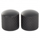 Iron + Plastic Guitar Volume Knobs - Black (2 PCS)