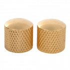 Iron + Plastic Guitar Volume Knobs - Golden (2 PCS)