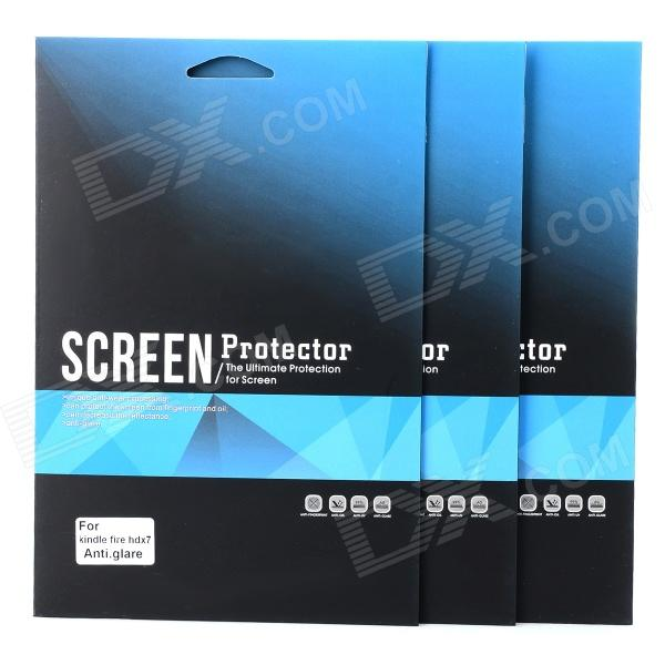 Protective Matte Frosted PCC Screen Guard Film for Kindle Fire HDX 7 - Transparent (3 PCS) protective matte frosted screen protector film guard for htc g14 transparent