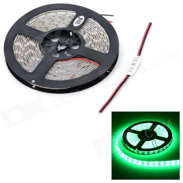 JRLED 72W 3600lm 300 x SMD 5050 LED Green Car Decoration Light Strip w/ Mini Controller - (12V / 5m)