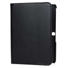 Protective PU Leather Case w/ Stylus Pen for Samsung Galaxy Tab 3 10.1 P5200 / P5210 - Black