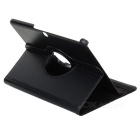 Protective PU Leather Case w/ Stylus Pen for Galaxy Tab 3 -Black