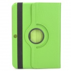 Protective PU Leather Case w/ Stylus Pen for Samsung Galaxy Tab 3 10.1 P5200 / P5210 - Green