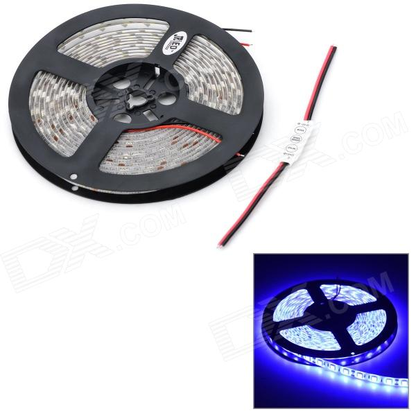 JRLED 72W 3300lm 300 x SMD 5050 LED Blue Car Decoration Light Strip w/ Mini Controller - (12V / 5m) 2pcs set led drl daylight lamp car daytime running light kit for mazda 3 axela 2010 2011 2012 2013