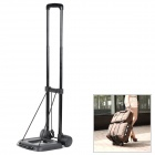 Alloy + Plastic Portable Folding Luggage Cart - Black