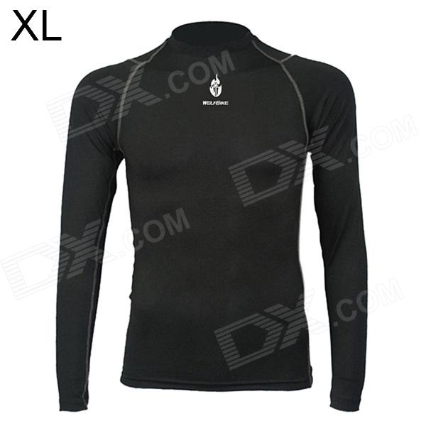 WOLFBIKE BC215 Outdoor Cycling Men's Long Sleeve Bicycle Jersey Clothes - Black (XL) veobike men long sleeves hooded waterproof windbreak sunscreen outdoor sport raincoat bike jersey bicycle cycling jacket