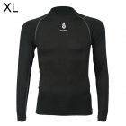 WOLFBIKE BC215 Outdoor Cycling Men's Long Sleeve Bicycle Jersey Clothes - Black (XL)