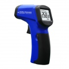 "MIT812 1.2"" LED Mini Wireless Handheld Infrared Laser Thermometer - Black + Blue (1 x 9V)"