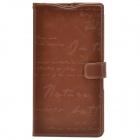 Zenus Classic Ultra-thin Head Layer Cowhide Case Cover for Sony Xperia Z Ultra XL39h - Dark Brown