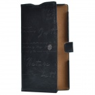 Zenus Classic Ultra-thin Head Layer Cowhide Case Cover for Sony Xperia Z Ultra XL39h - Black + Brown