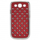 Cool Protective ABS Back Case for Samsung Galaxy S3 i9300 - Wine Red