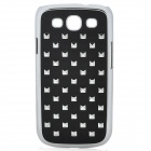 Magic Block Pattern Protective ABS Case for Samsung i9300 - Black
