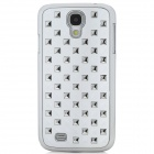 3D Cubes Pattern ABS Back Case for Samsung Galaxy S4 / i9500 - White